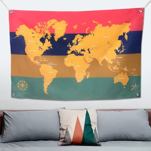 World map cloth playful (medium)