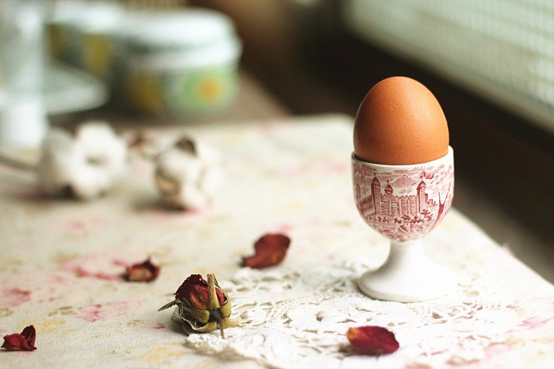 【Good day fetish】 British vintage classic classical egg cup (red)