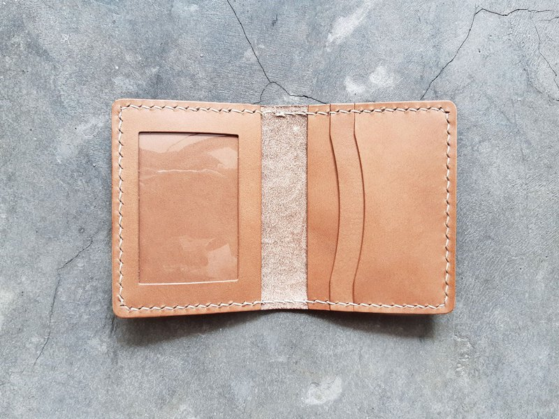 Folded 3 1 1 photo 咭 set of well-stitched leather material card card set Italian vegetable tanned DIY