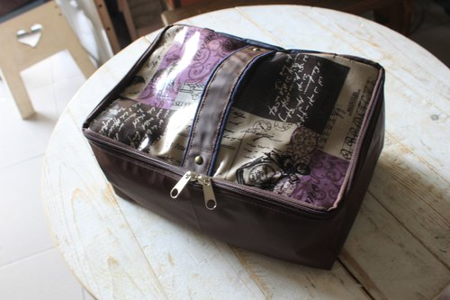English font body portable storage bag travel waterproof underwear wash bag