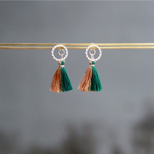 Gaze Design ▪ Planetary Tassels Series ▪ Jupiiter ▪ Handmade 925 sterling silver earrings | tiny tassels earrings | accessories