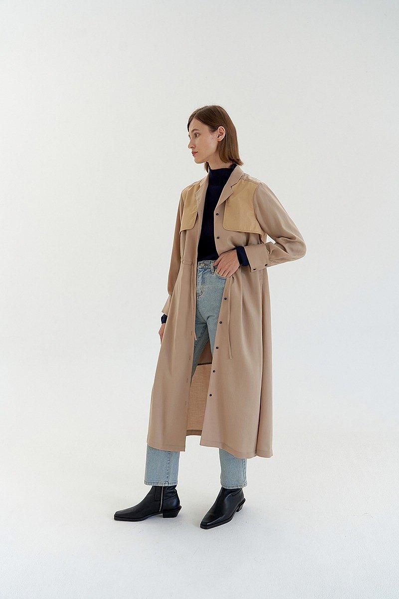 天絲棉細羅紋薄針織上衣- 深藍