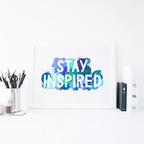 Stay Inspired掛畫