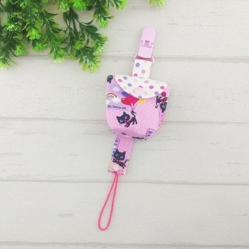 【Last Spot】 princess cat. Pacifier storage bag + a pacifier chain