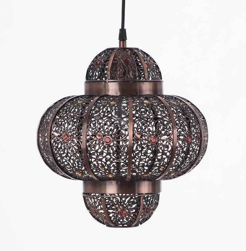 BNL00008- copper brush black Moroccan style chandelier