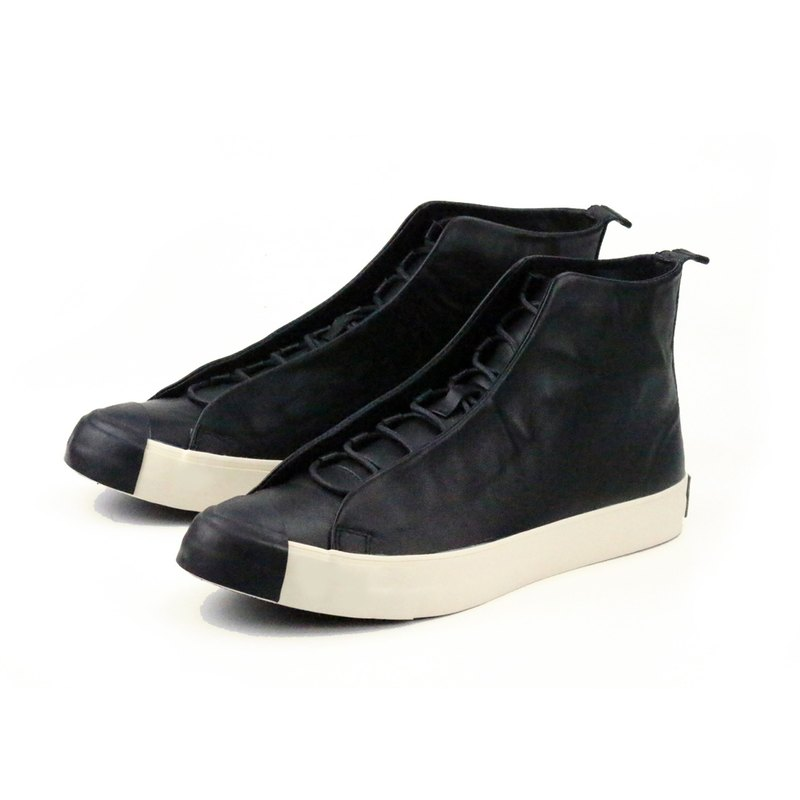 Leather Sneaker TEXTURE M1164 Black
