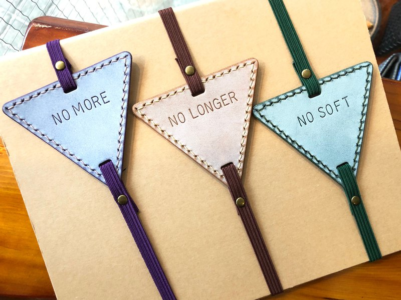 Finished Products - Triangle Bookmarks Original Handmade Leather Bookmarks #bookmarked#1 Leather Bookmarks Hand-sewn tanned leather Italian skin wax skin Made in Hong Kong