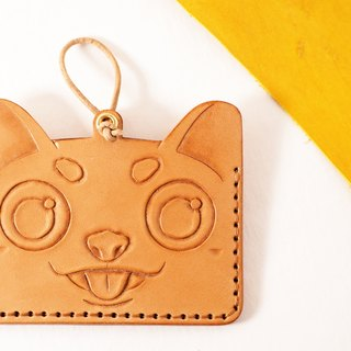 Dog leather crave octopus ID pouch tag