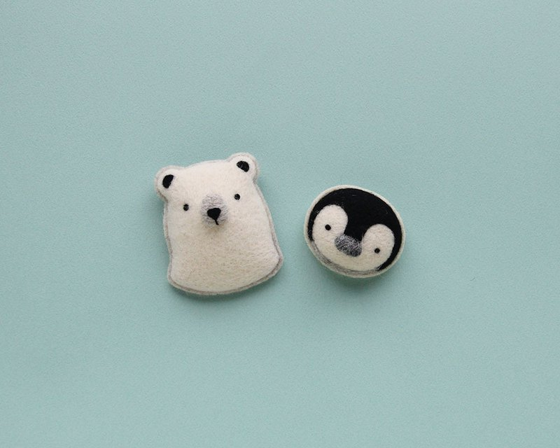 Leyang·Hot Fun Wool Felt Material Pack-White Bear Cotton Candy Pin