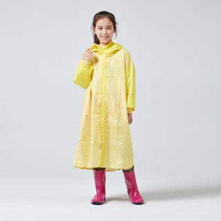BAOGANI Children's Raincoat Houndstooth Backpack (Yellow)