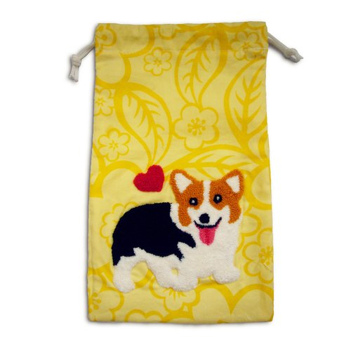 Corgi Drawstring Bag