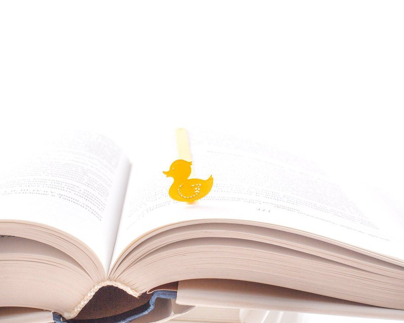Unique bookmark Yellow Duck // Unique design // Free shipping worldwide//
