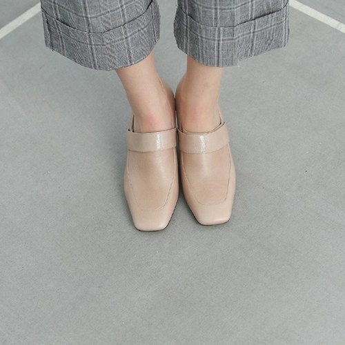 Minimalist retro micro-fine with fine leather shoes apricot camel