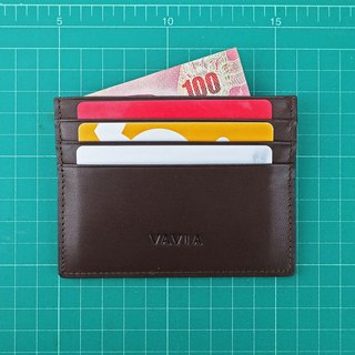 """Dark Chocolate"" Cow Leather Card Holder"