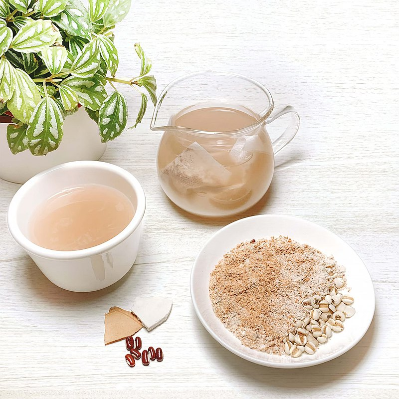 Flavored Red Bean Coix Seed Chinese Herbal Health Tea 10 Into Chixiao Bean Coix Seed Tuckahoe