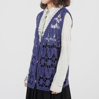 [Egg plant ancient] dreamland network vintage knit vest
