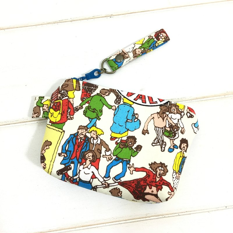 ✎ Japan zipper purse | Where'sWally? Where is Willy? Blue