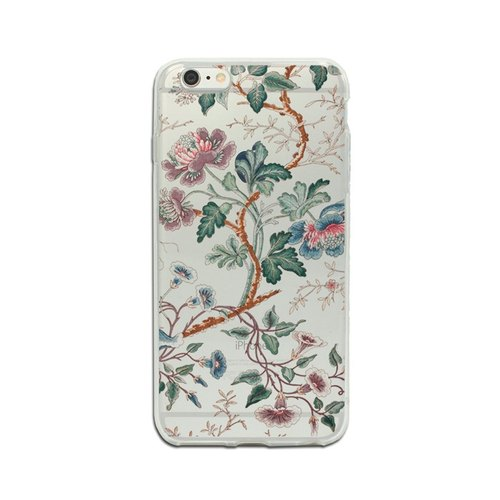 Clear iPhone 6 7 case flower phone case transparent iPhone SE case iPhone 6 7 Plus case floral iPhone 5/5s cover Samsung Galaxy S4 S5 S6 S7 cover 1224