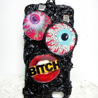 """Lanyards paragraph"" OBK Harajuku style big eyes and mouth smoke iPhone 6 / 6s Phone Case"
