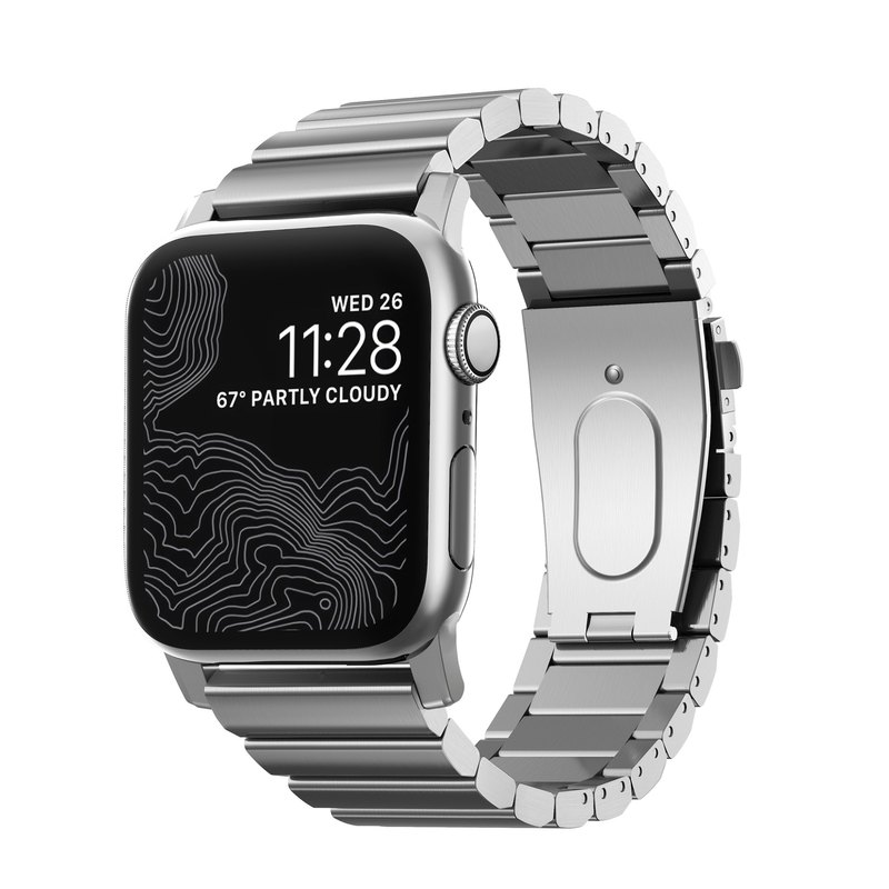 US NOMAD APPLE WATCH Stainless Steel Strap-42 / 44mm (Silver) 856504015404
