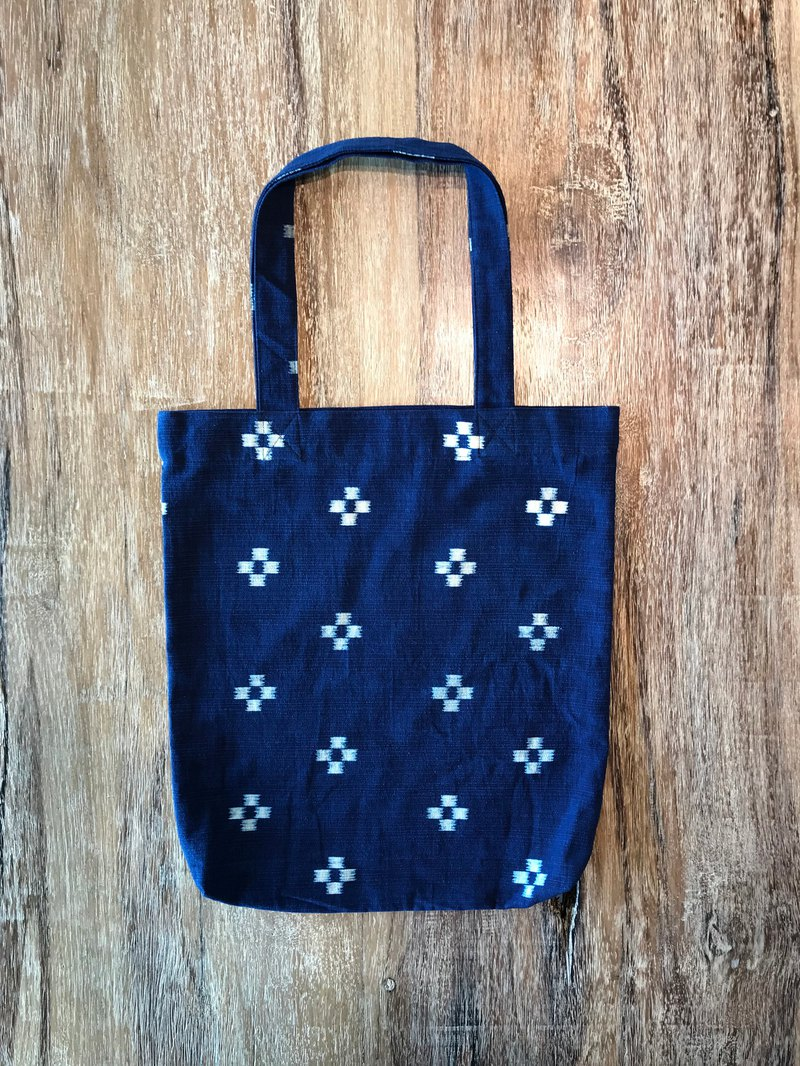 Cotton Indigo Tote Bag