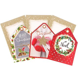 Triangle warm house Christmas box card 3 models a total of 12 into [Hallmark-card Christmas series]
