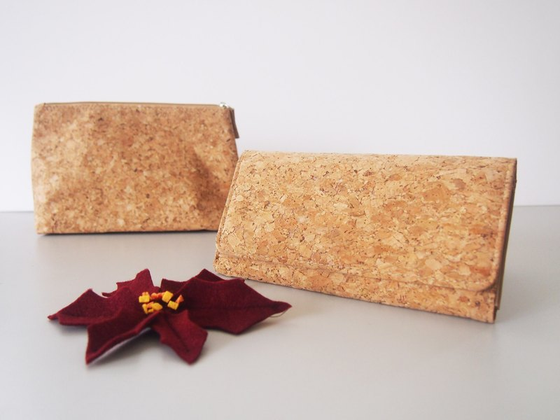 Naturaism blessing bag: cork long clip + cork pencil bag / cosmetic bag (original price 967, limited sale)