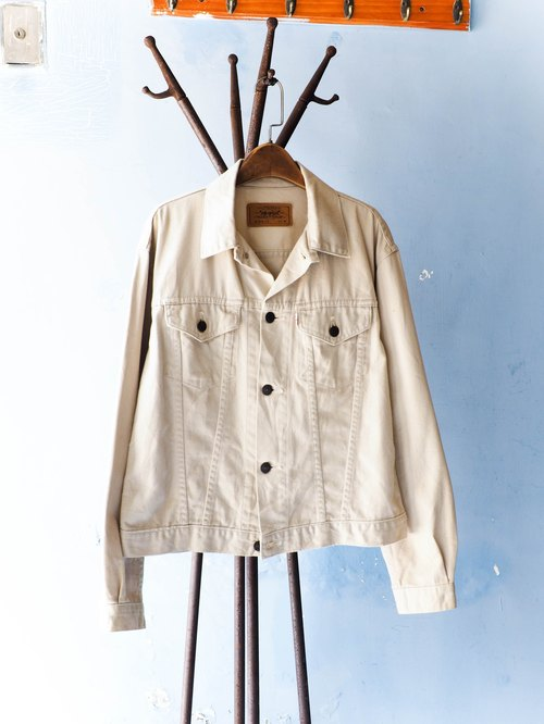 River Hill - levis Hokkaido Beige Loving autumn wind shirt jacket thin pounds tannins antique vintage neutral shirt oversize vintage denim