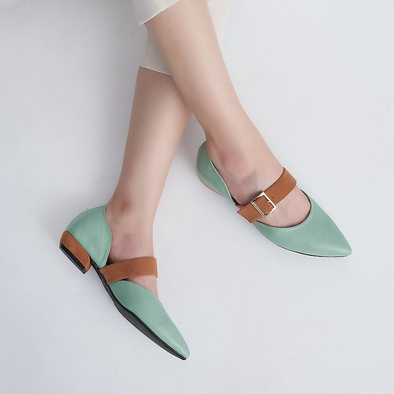 Paranoid Exchange Pointed Sandals-Mint