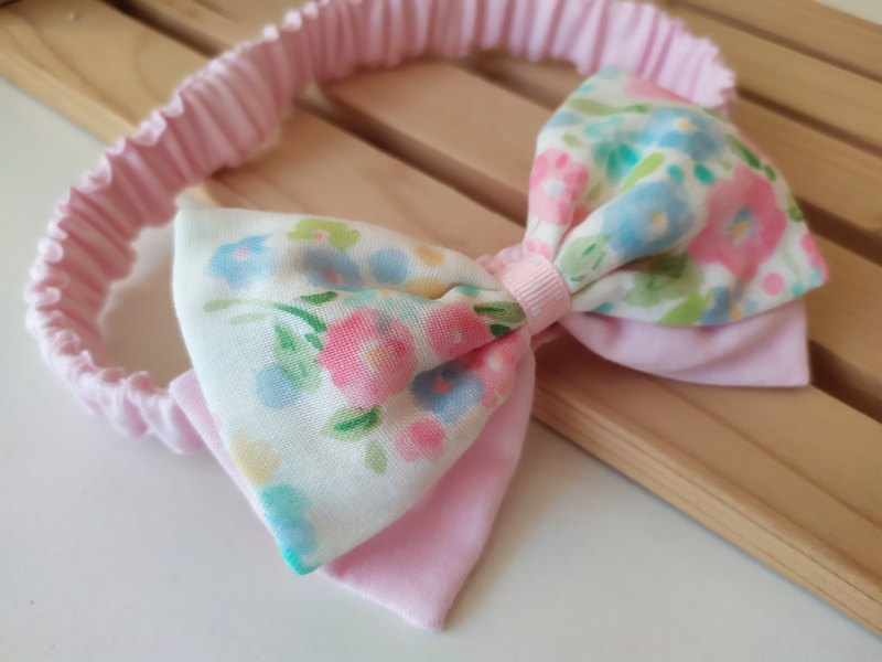 Bicolor Bow Miyue Gift Baby Hair Band Headdress Bow Hair Band Baby Hair Band Headdress