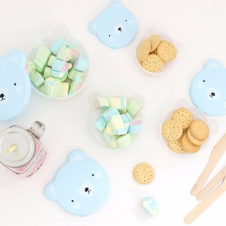 A Little Lovely Company - Healing Blue Bear Picnic Box/Snack Box (4 in)