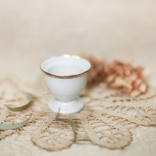 [Good day fetish] Germany vintage ceramic egg cup royal gold