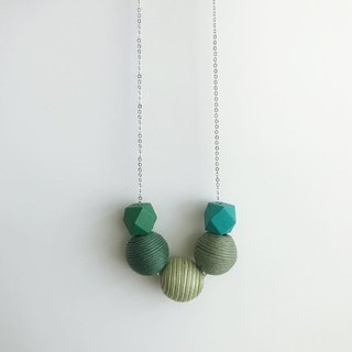Green Wooden Ball Necklace Birthday Gift Bridesmaid Gift Bridal Shower