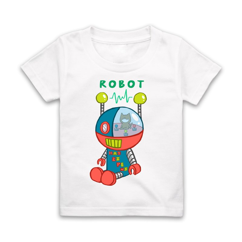 Letter R-ROBOT Short Sleeve T-Shirt - White