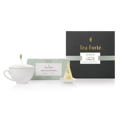 Tea Forte Single Tea Tasting Box Rejuvenation Gift Set