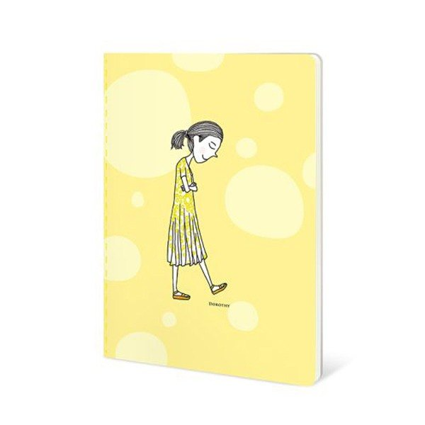 Dorothy 50 open color car suture notebook - yellow circle (9AAAU0030)