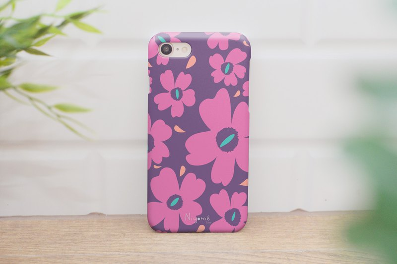 66-3 pink flowers iphone case for iphone 6,7,8, plus iphone xs, iphone xs max