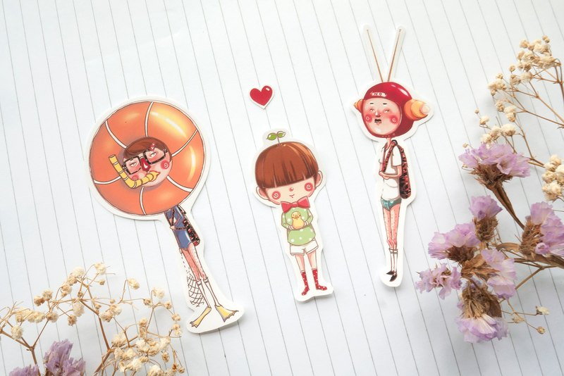 "Noemo ""original characters"" sticker into 3 groups"