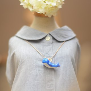 a little cute blue whale handmade necklace from Niyome