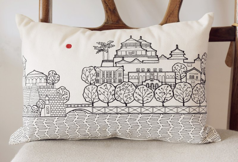 Tainan City Embroidered Cushion