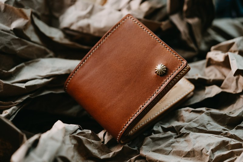 Italy Buttero Leather Wallet / Two Colors / Handmade