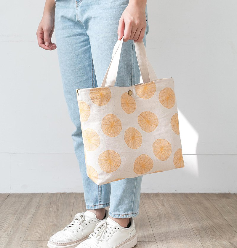 Three-purpose canvas tote bag-fruit series made in Taiwan