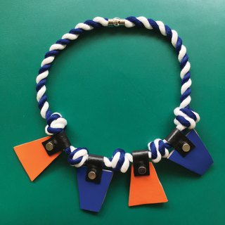 Sonniewing's Trapezoid Color Block Leather Necklace