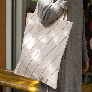 Roomy Eco Shopper Bag in Canvas with Sewing Lines/Available in 5 color