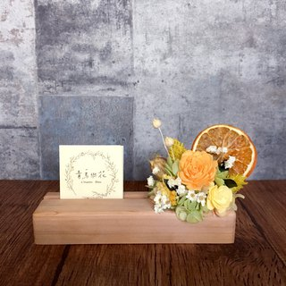 | Summer Orange | Dried flowers. Spread fragrant flowers. Wooden business card holder. Wedding card holder
