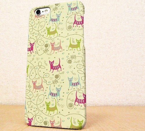 Free Shipping ☆ iPhone case GALAXY case ☆ wool and cat seamless pattern part2 phone case