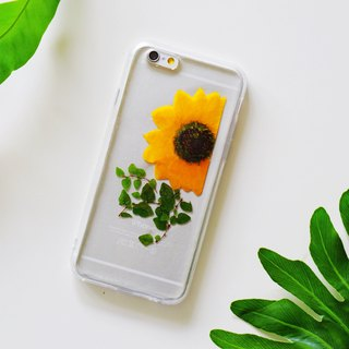 Sun flower gesture (fresh and simple) / plant specimens Yahua phone shell iphone / Samsung