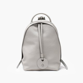 Bodhi says FOSTYLE first layer cowhide leather new basic backpack glacier gray original design simple wild color shoulder bag gray
