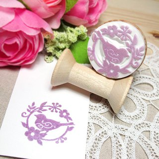 Apu handmade chapter elegant garland bird silhouette seal clerk stamp