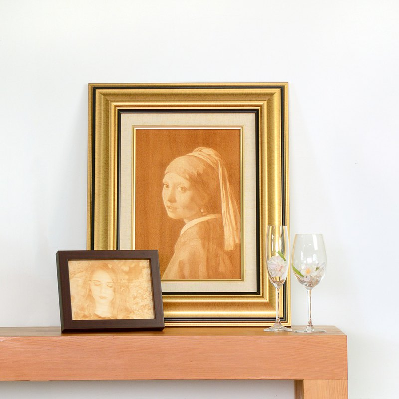 Limited Photo Rotate Portrait Woodcut Picture Frame|Collection Art Beautiful Heart Paintings, Limited Time Offer